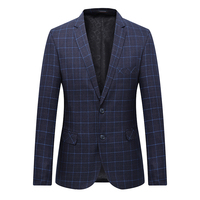 High Quality Men Blazer Fashion Plus Size Casual Mens Plaid Blazer Jacket 2018 Spring Long Sleeve Business Suit Coats Men 7XL L