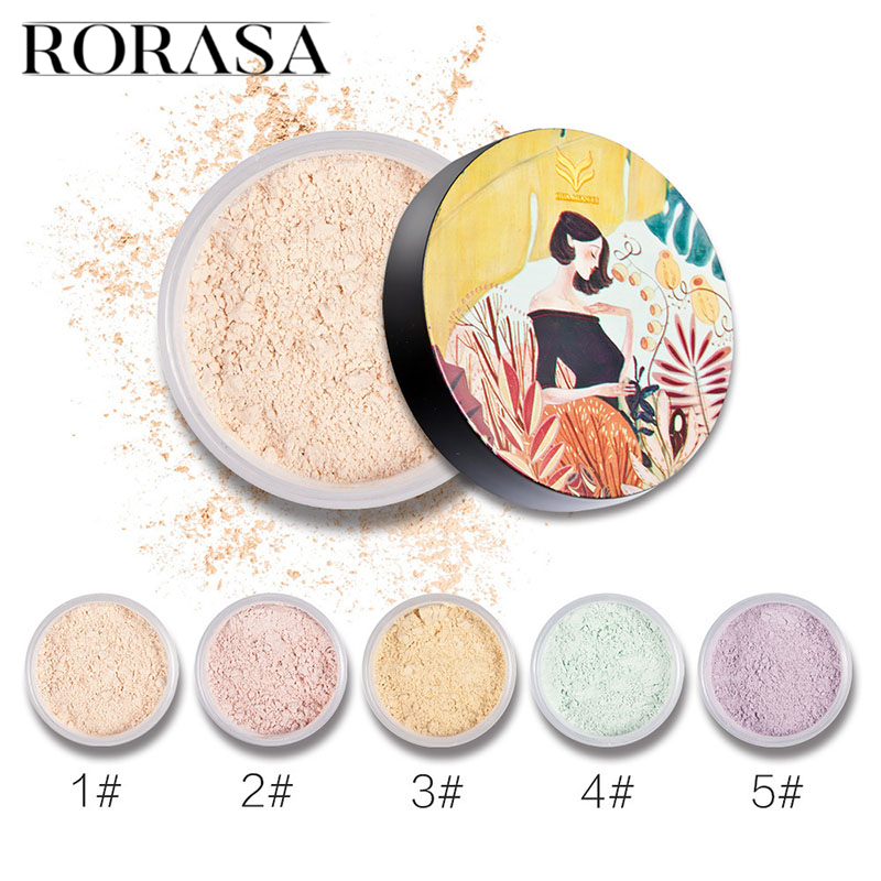 Translucent Loose Powder Oil Control Whitening Setting Powder Mineral Matte Powder Foundation Concealer Cosmetics Makeup Palette image
