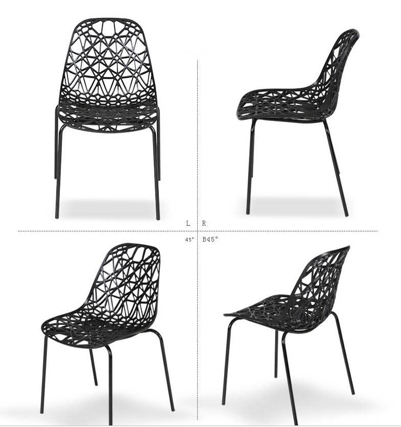 Set Simple Modern Plastic Hollow Chair Fashion Outdoor Leisure Office ...