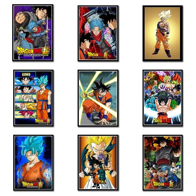 Dragon Ball Super Goku Wall Art Paint Wall Decor  Art Poster Oil Paintings No Frame 42*30CM