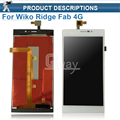 (1pcs/lot) For Touch screen Digitizer Panel + LCD Display Assembly For Wiko Ridge Fab 4G