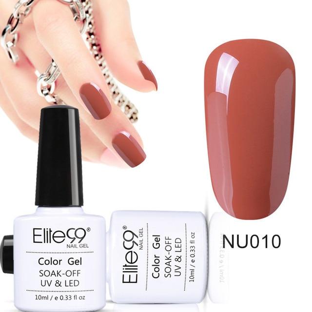 Elite99 Wunderschöne Nude Grau Gelb Grün Farben Nagel Gel Polish 10 ml DIY Schönheit Nagel Kunst Werkzeuge Wählen Sie Jede 12 stücke Von 324 Farben