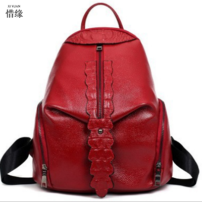 Vintage Women Leather Backpacks female Cowhide Casual Ladies Student School Bags Female Shoulder bag Women Back Pack travel bags multifunction men women backpacks usb charging male casual bags travel teenagers student back to school bags laptop back pack