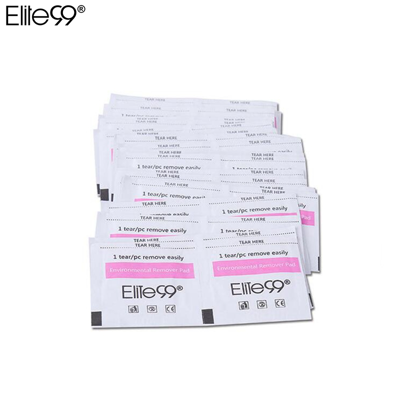 Elite99 50 Pieces Gel Polish Remover Wraps Cotton Pads Manicure Tools Wet Wipes Paper Pads Foil Nail Art Cleaner for UV Gel