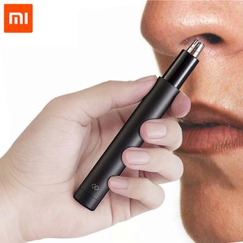 100 oryginalny Xiaomi Mini nos trymer do włosów HN1 ostre ostrze przenośny minimalistyczny projekt bezpieczne wykończenia nos włosów dla rodziny codziennego użytku tanie i dobre opinie CN (pochodzenie) Xiaomi Nose Hair Trimmer Gotowa do działania WEJŚCIE 2 KANAŁY Best Quality