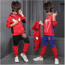 New Autumn Spider Man Boys Clothes Sets Kids Children Spiderman Cosplay Sport Suit Boys Clothing Set T shirt +Jacket+Pants 3pcs