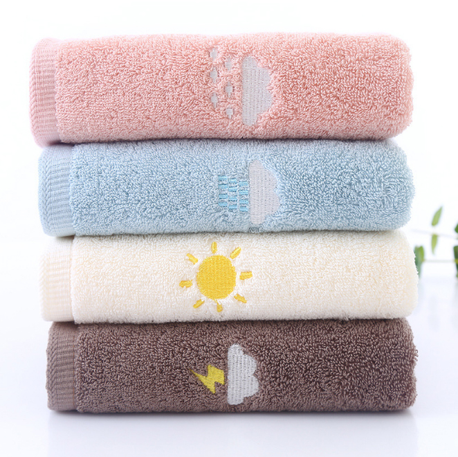 Luxury Christmas Kitchen Towels: 35X75cm 2Pcs 100% Cotton Luxury Solid Embroidery Face Hand