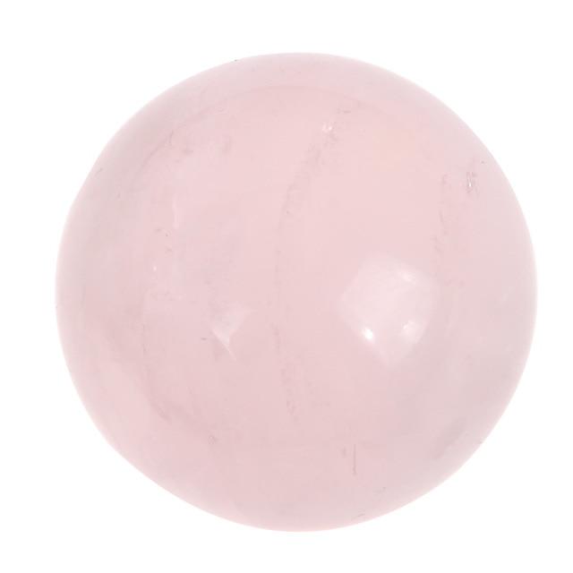 Natural Pink Jade Quartz Crystal Sphere Ball Healing Massaging