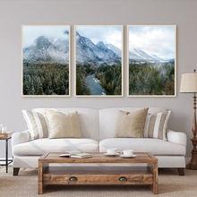 Природный пейзаж холст живопись горы плакаты и принты минималистичное