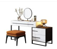 Modern simple baking varnish dressing table storage telescopic cabinet one cabinet makeup table small family makeup table.