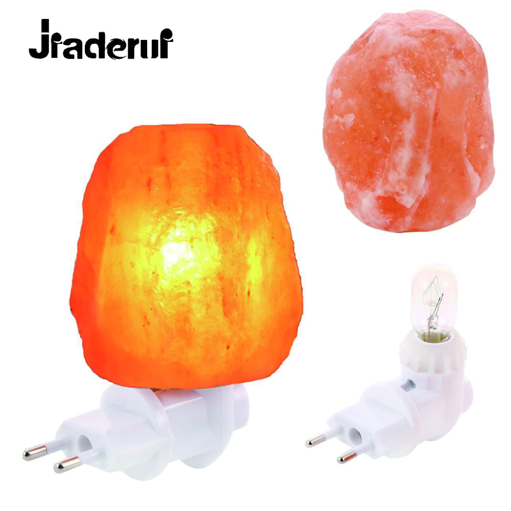 Jiaderui LED 15W Air Purifier Crystal Salt Rock Night Light Natural Shaped Rorate Himalayan Salt Lamp Aisle Bedroom Bedside Lamp цена