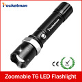 Hot E17 XM-L T6 3800LM Aluminum Waterproof Zoomable cree LED Flashlight Torch light for 18650 Rechargeable or AAA Battery