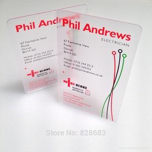 Image 1 - 85X54mm 0.36 ミリメートル名刺を作成するカード印刷透明pvcカード マット顔片面印刷