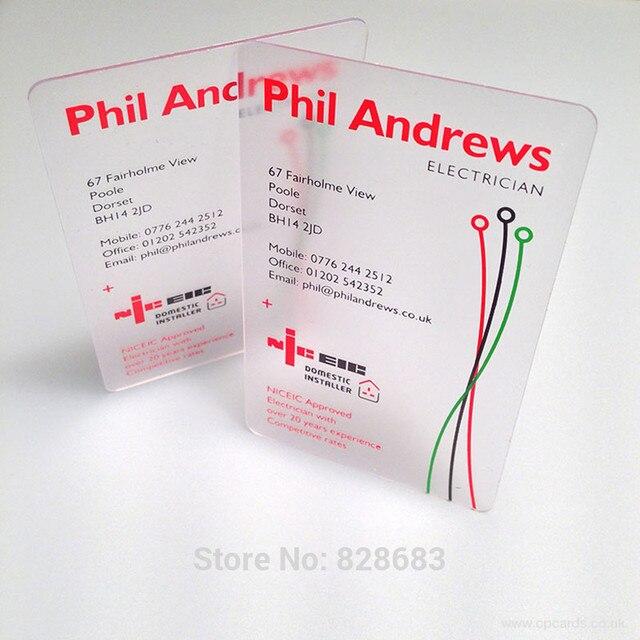 85X54mm 0.36 ミリメートル名刺を作成するカード印刷透明pvcカード マット顔片面印刷