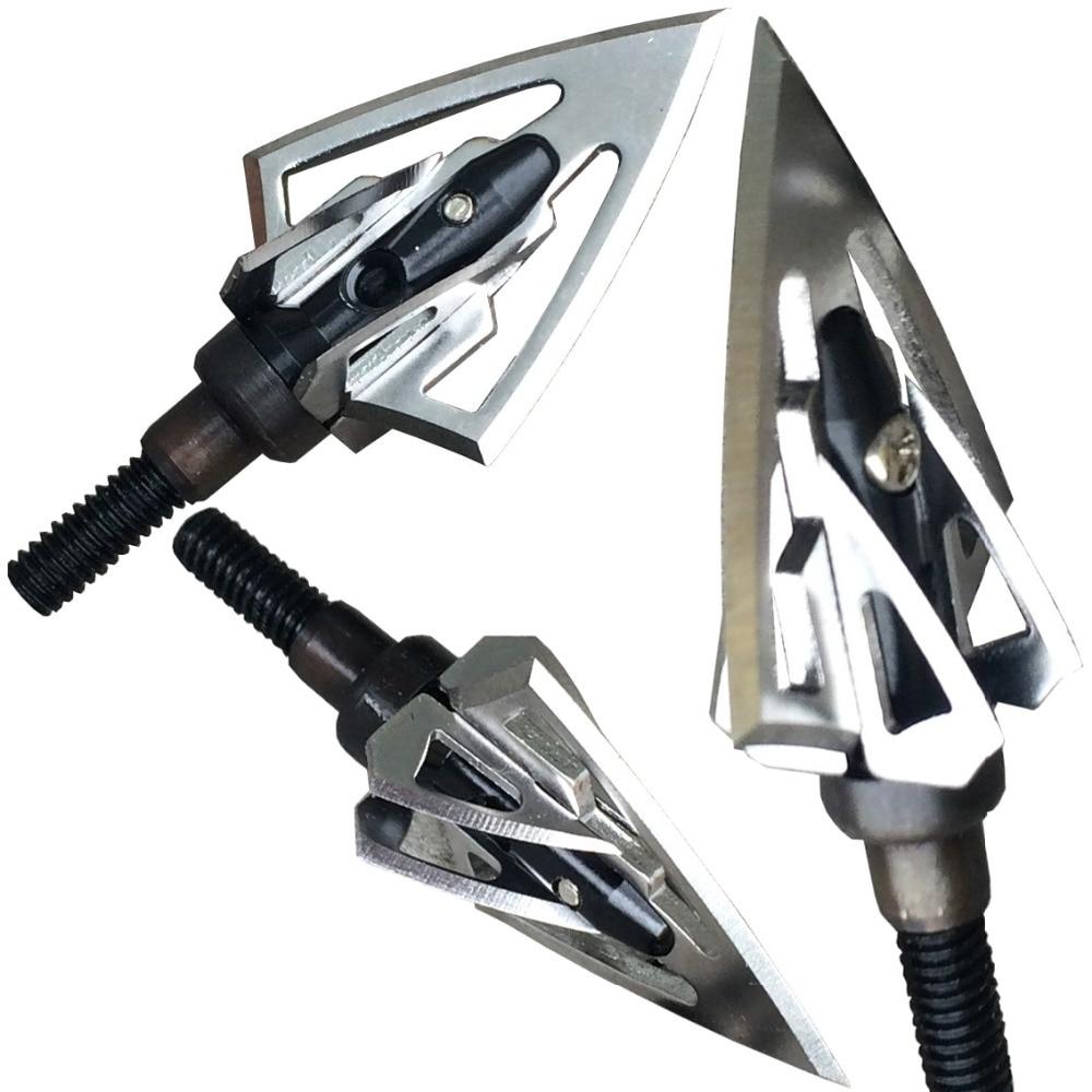 Nuevo arco compuesto de caza flecha cabeza flechas flechas tiro con arco ballesta caza 100 gn hoja de caza jet negro envío gratis