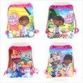 doc mcStuffins cartoon non-woven fabrics drawstring backpack,schoolbag,shopping bag
