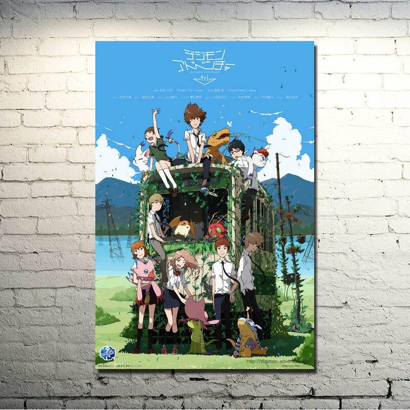 Digimon Приключения Tri аниме Шелковый плакат печать 13x20 32x48 дюймов фотографии для Декор в гостиную отличный подарок 001