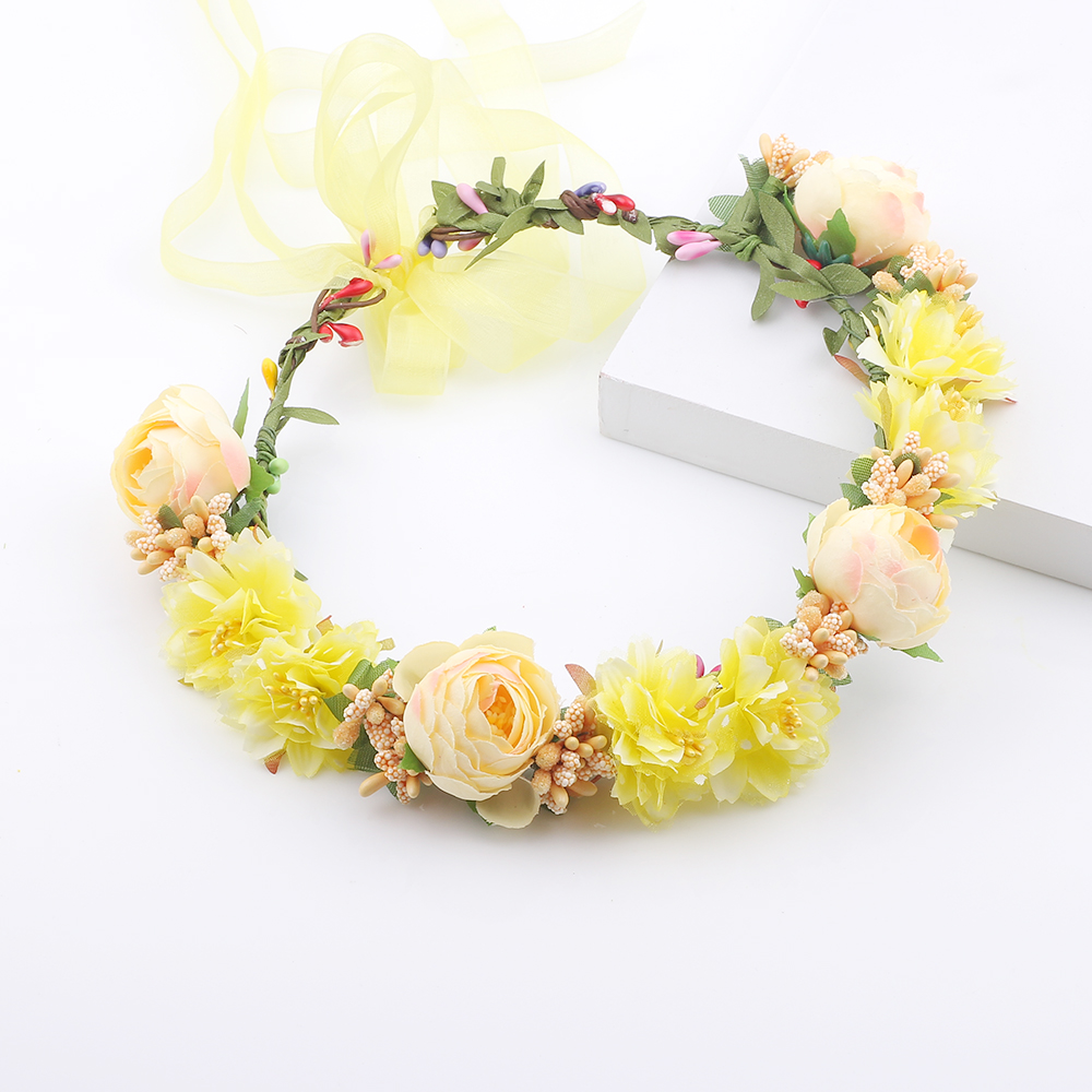 Artificial Festival Crown Decorative Garland For Wedding kids hair accessories for Chirismas gift