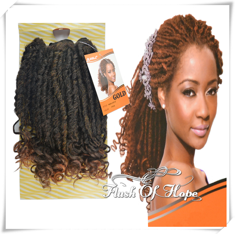 22 Quot Noble Gold Yanika Lock Ombre Curly Synthetic Hair