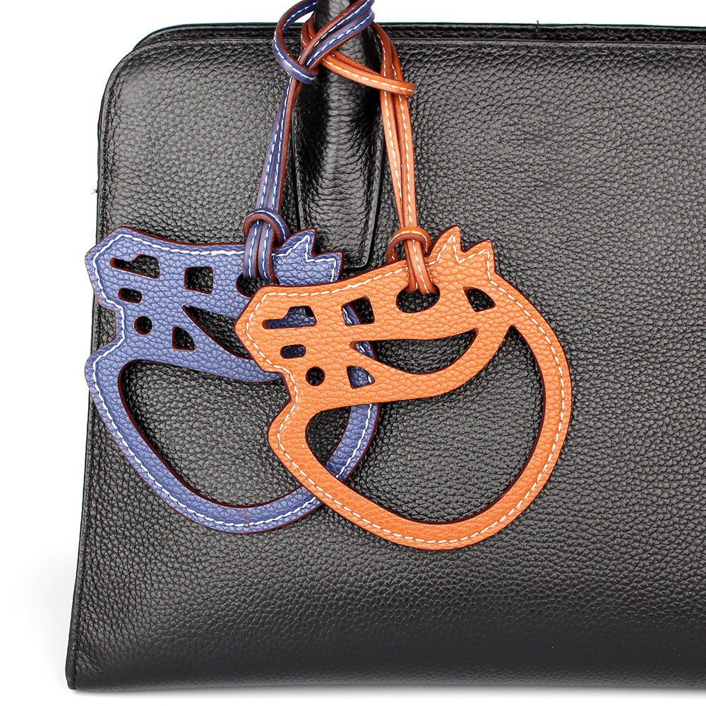 Famous Brand Designer Fashion Handmade Faux PU Leather Horse Keychain Pendant For Backpack Women Bag Charm