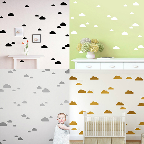 Buy 56pcs 10pcs clouds decal wall art for Kids room store
