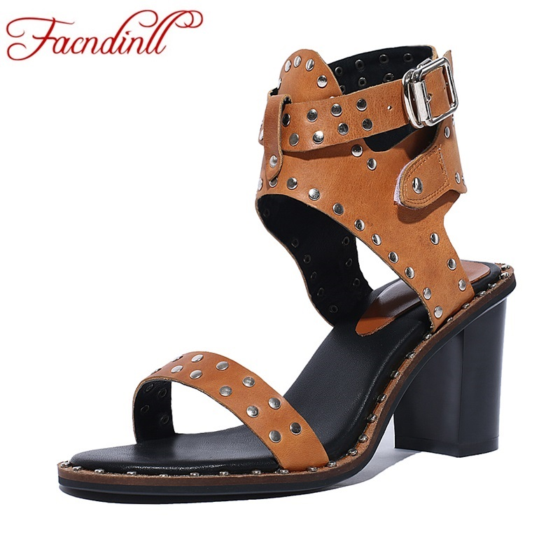 ФОТО new rome style women gladiator sandals shoes 2017 fashion rivets summer shoes sexy thick heel sandals sexy open toe casual shoes
