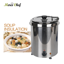 ITOP 5.7L Stainless Steel Soup Warmer Pot Stockpot Electric 110V/240V Buffet Cafeteria Restaurant Soup Pot Heating Furnace