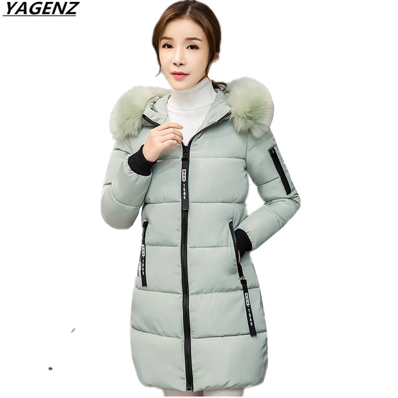 Hot Sale Women Winter Jacket 2017 Women Parkas Hooded Fur Collar Down Cotton Jacket Coat ...