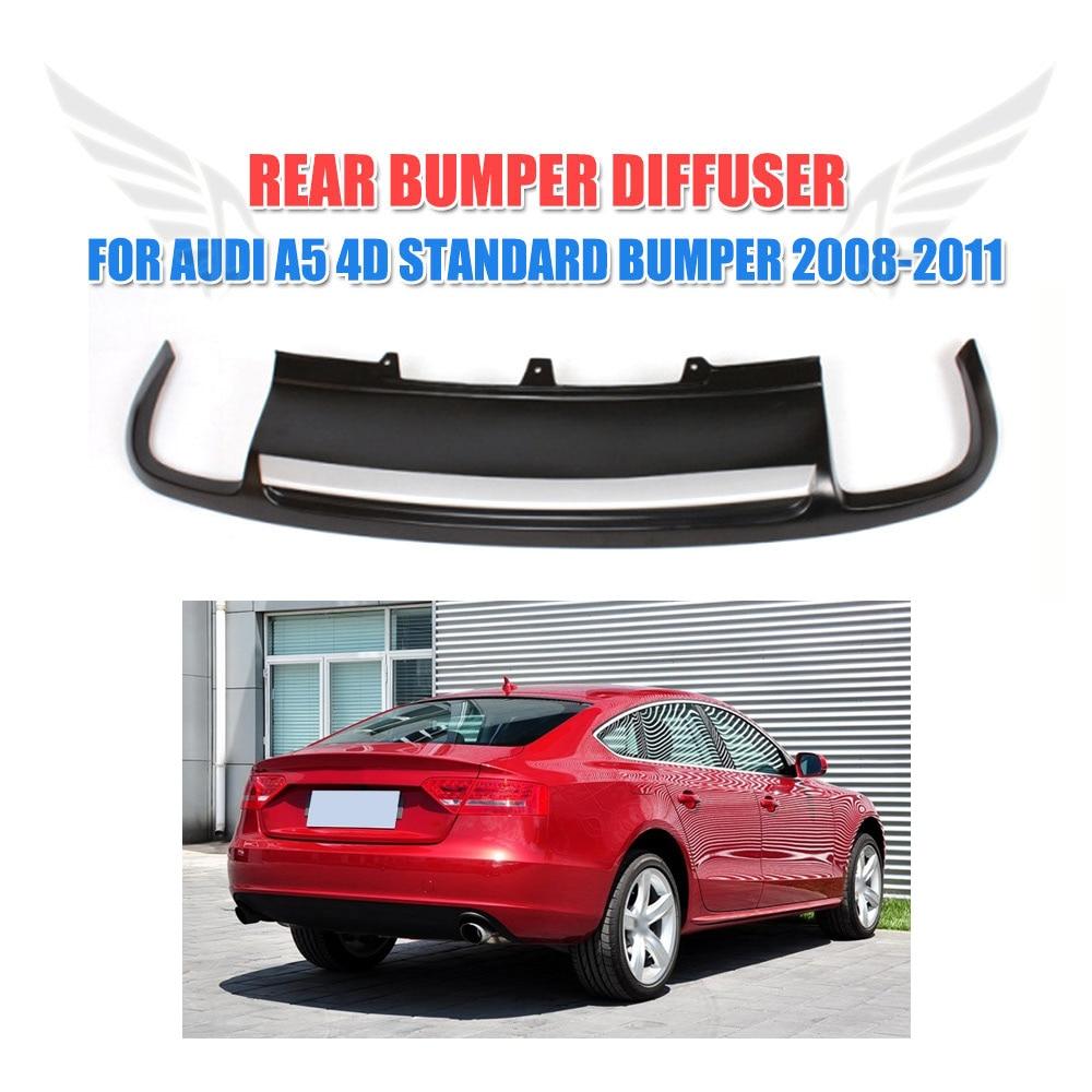 все цены на PU Black Painted Car Rear Diffuser Lip Spoiler S Type For Audi A5 Sportback 4 door Standard 2008-2011 Non-Sline онлайн