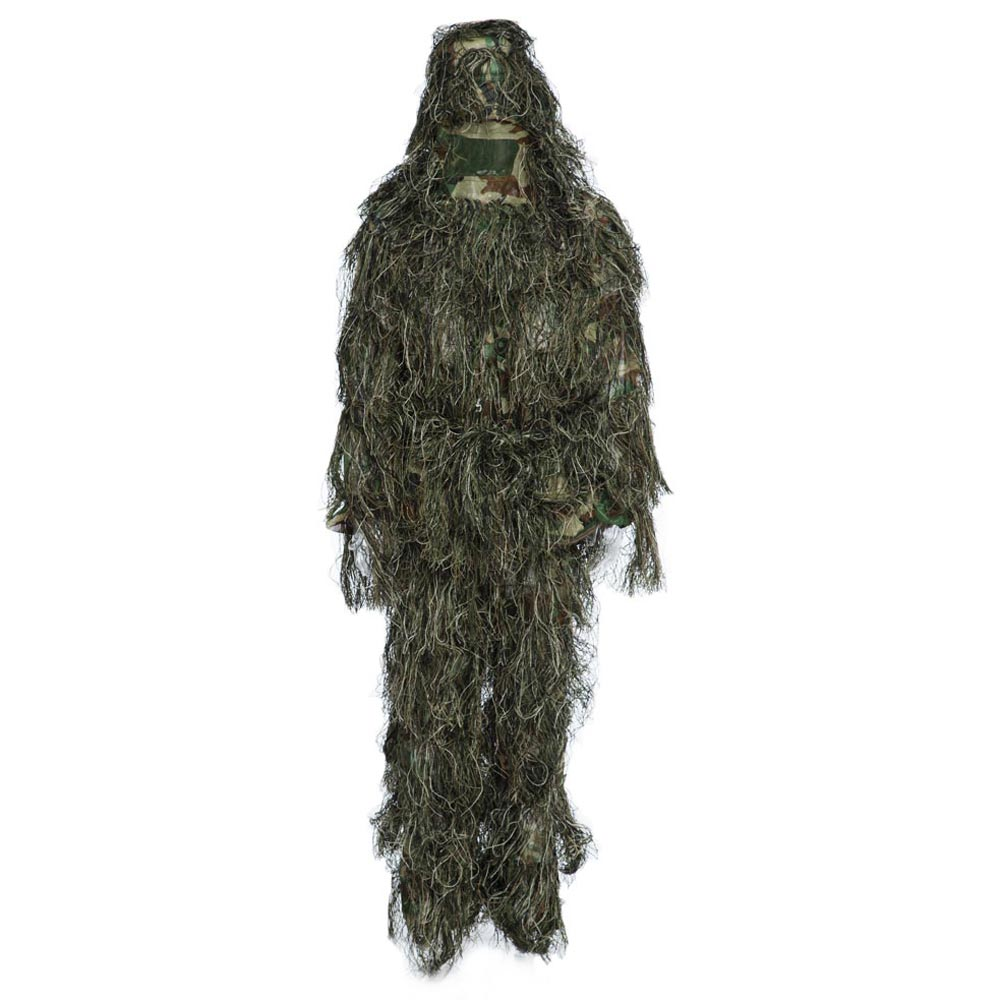 Hunting Clothes Ghillie Suit CS Camouflage Suits Set 3D Woodland Sniper Hunting Disguise Uniform Sniper Jungle Military Suit cs camouflage suits set bionic disguise uniform hunting woodland sniper ghillie suit hunting jungle military train cloth s049