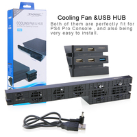 Mulitfunction 2 In 1 Cooler Fan With USB External 5 Fan Super Turbo USB HUB 5