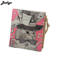 New Japan and Korean Style Women Wallet Animal Prints Girls Short Wallets Fashion Sweet Zipper Change Purse Delicate Cash Purse