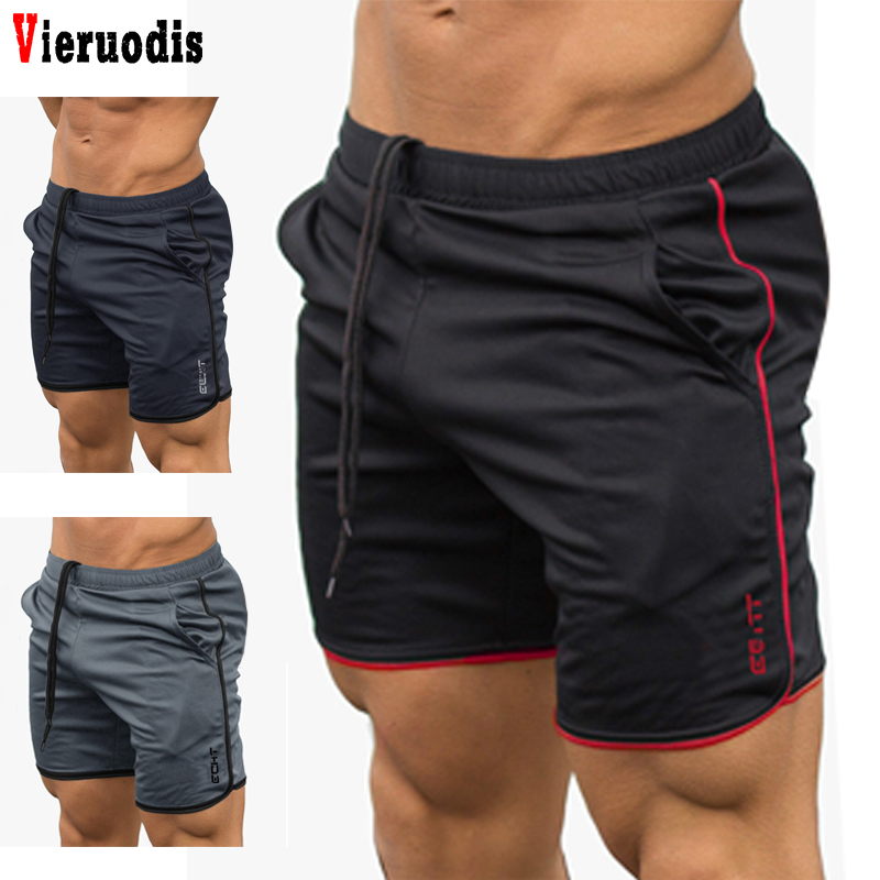 Fashion Summer New Mens Fitness Shorts Gyms Bodybuilding Workout Casual Male Calf-Length Short Pants Brand Sweatpants Sportswear