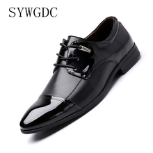SYWGDC Fashion Men Dress Shoes PU Leather Oxford Shoes Lace Up Casual Business Formal Men Shoes Brand Men Wedding Shoes Big Size стоимость