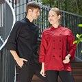 Revestimentos Do Chef Executivo Francês ocidental Preto Melhor Qualidade Hotel Master Chefs Jaquetas Uniformes Senhoras uk Chefwear Presente Frete Grátis