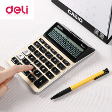 Deli 1pcs large screen Calculator Portable Multifunctional Calculator for Mathematics Teaching Student Calculator Office School цены