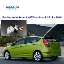 Yessun Auto Achteruitrijcamera Voor Hyundai Accent Wit Hatchback 2011 ~ 2016 Hd Ccd Nachtzicht Backup Achteruitrijcamera