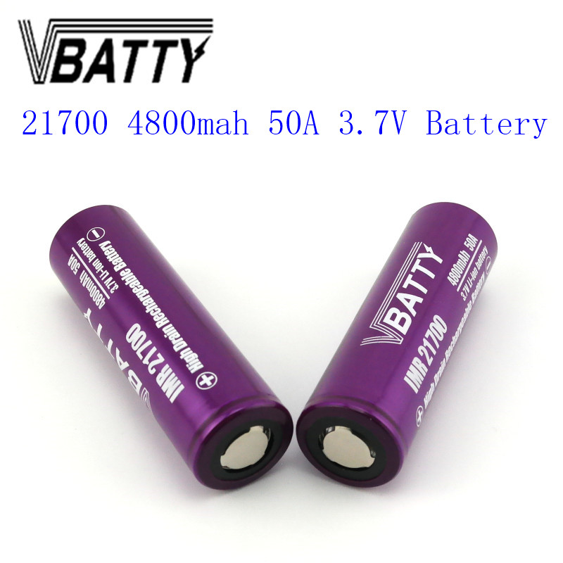 1pcs/lot Newest Vbatty 21700 4800mah 50A Battery 3.7V Li-ion Rechargeable 21700 Battery PK INR21700-30T  Very Cheap