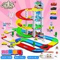 No. niños DIY Puzzle montado tres pista de coches aparcamiento modelo de simulación entre padres e hijos juguetes educativos, juguetes interactivos traje