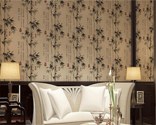 beibehang pvc Classic Chinese 3d Wallpaper Hotel Calligraphy Bamboo Restaurant Cabinet Wall Background wallpaper papel de parede