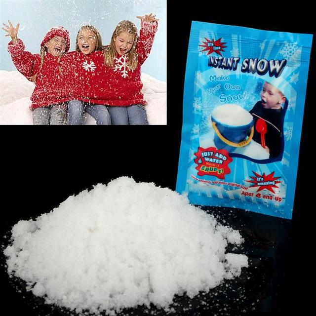 Christmas Fake Magic Instant Snow Fluffy Super Absorbant Decorations For Christmas Wedding 5PCS/Bag 2