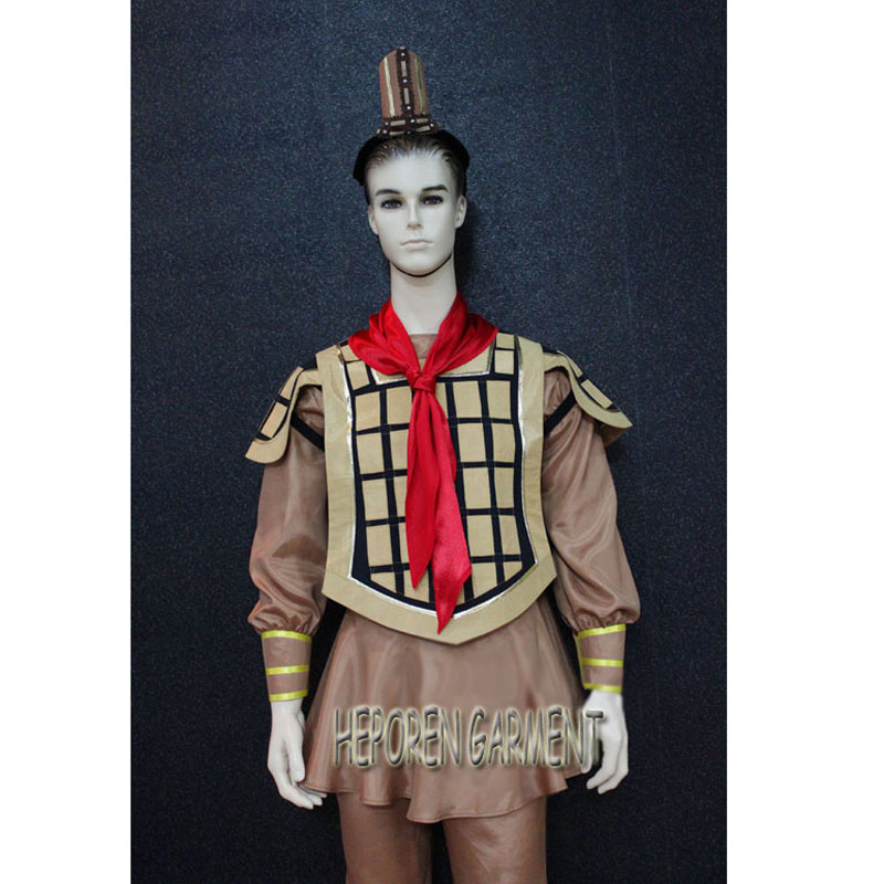 Custom Made Chinese Old Times Man Soldier Armour Costumes For Stage Performance,China Ancient Times Soldiers Armor Top/Trousers