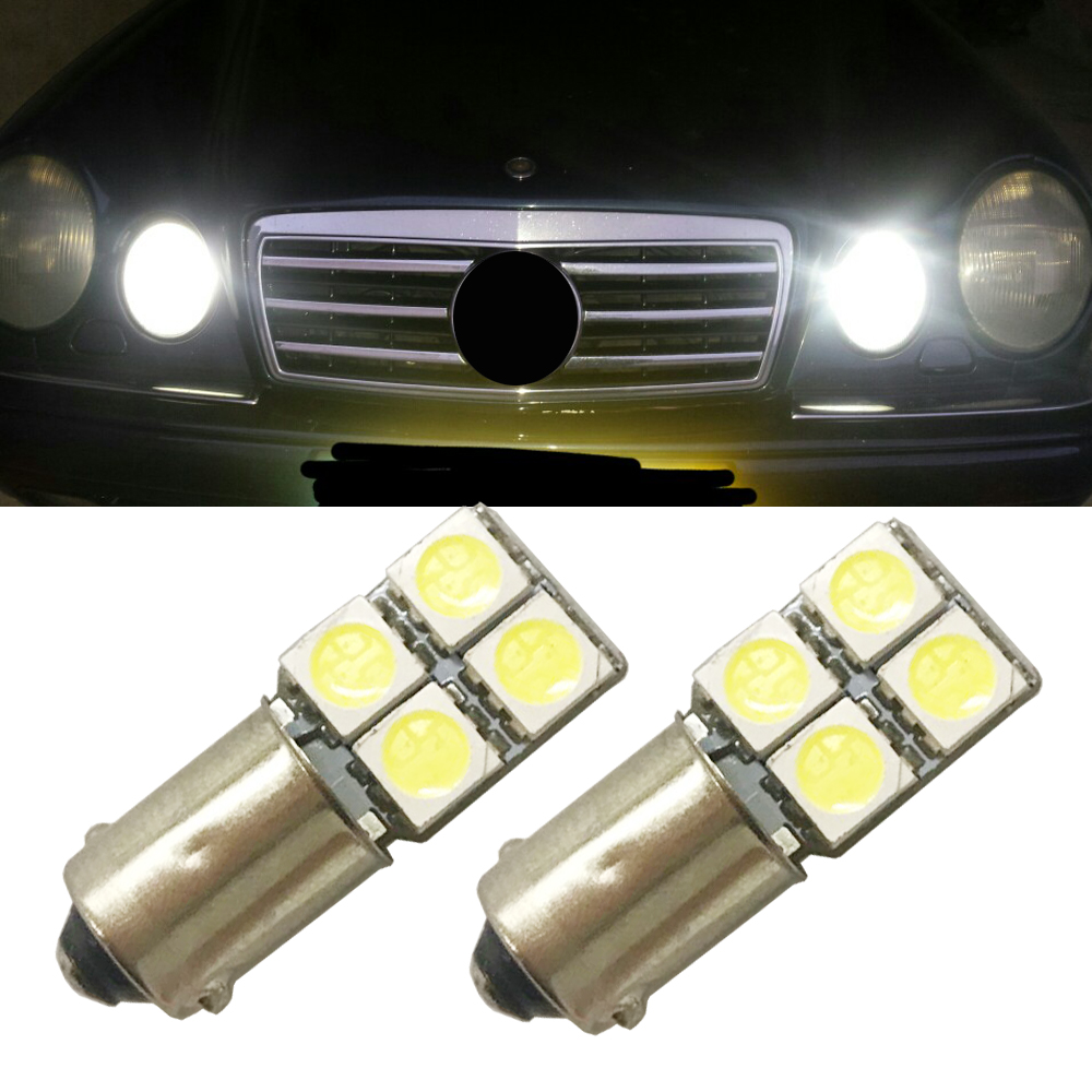 233 8 Smd Canbus Super Bright White Error Free Sidelight Bulbs Led T4w Ba9s 5050