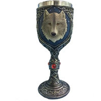 Lovely Wolf Head Goblet Cup Stainless Steel Creative Spirits Vodka Glasses Garnett Red Wine Goblet Diamond Bar Gift
