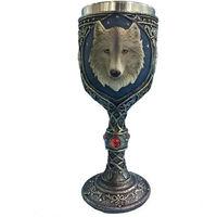 Lovely Wolf Head Goblet Cup Stainless Steel Creative Spirits Vodka Glasses Garnett Red Wine Goblet Diamond Bar Gift