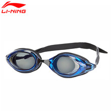 Li Ning Original Men & Women Swim Eyewear PC Silica Gel Material Li Ning Sports Glasses ASJJ014