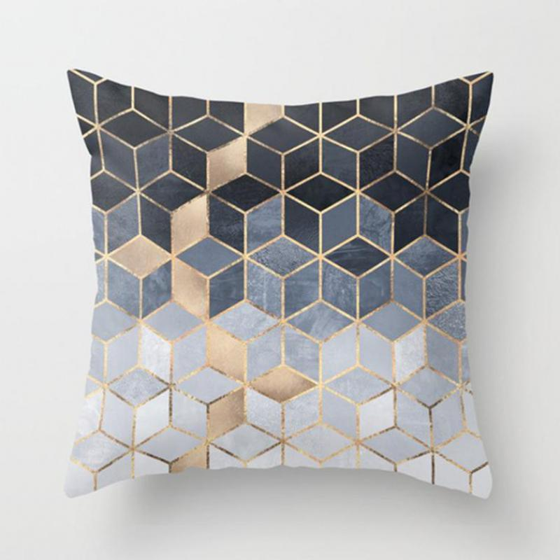 Factory Direct Sales Irregular Triangle Pattern Pillow Cases Home Decor Vintage Geometric Cushion Covers 40x40cm
