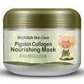 BIOAQUA Colágeno Máscara Facial Hidratante Máscara Para Dormir Hidratante Colágeno Máscara Facial Branquear Máscara de Lama Para As Mulheres Enfrentam Cuidados Com A Pele