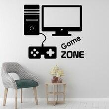 Diy Game Zone Wall Art Sticker Modern Decals Quotes Vinyls Stickers Living Room Children Mural