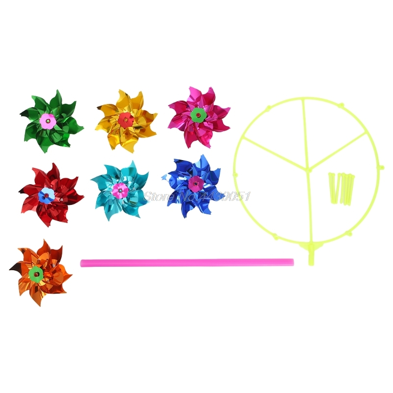 Colorful DIY Sequins Windmill Wind Spinner Home Garden Yard Decoration Kids Toys 1